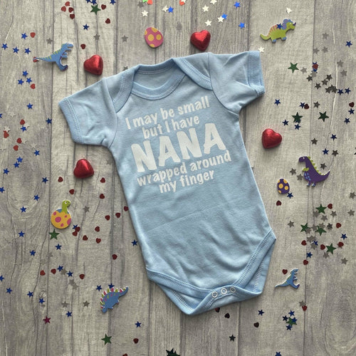 Personalised I may be small but... Boys Romper