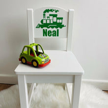 Personalised Girl or Boy Train Design gift wooden nursery chair