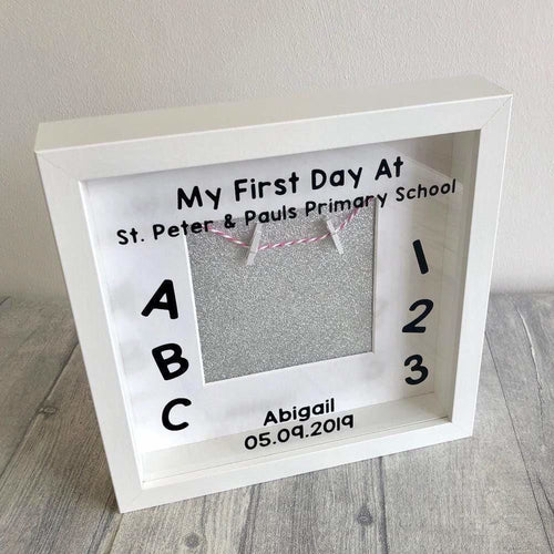 Personalised First Day of School Children's Photo Box Frame