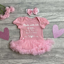 Made with Lots of Love and a Little bit of Science Tutu Romper with Matching Bow Headband