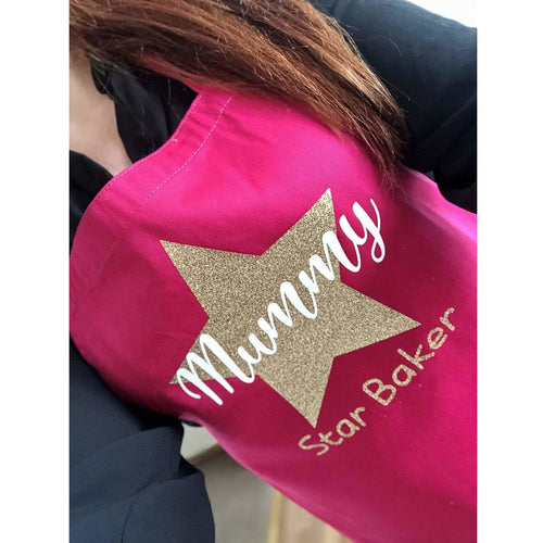 Personalised Mummy Star Baker Adult Baking Cooking Apron