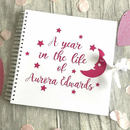 A Year in the life of...Baby Boy or Girl Personalised Memories Scrapbook Gift