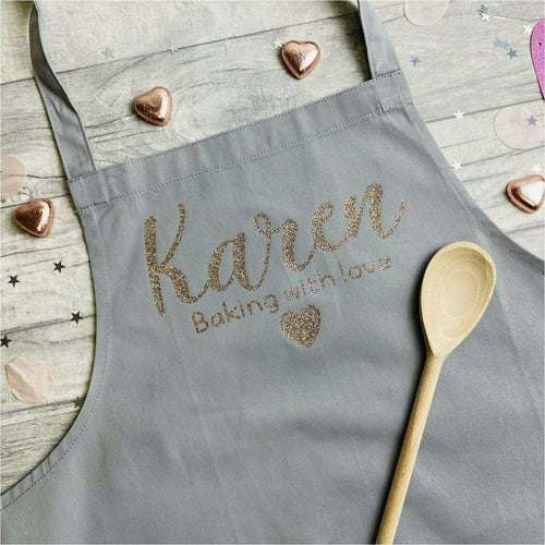 Personalised 'Baking With Love' Kitchen Adult Baking Cooking Apron