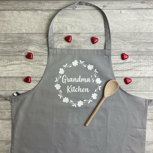 Personalised 'Grandma's Kitchen' Adult Baking Cooking Apron, Nana
