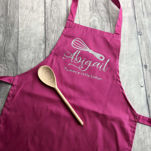 Personalised Whisk Mummy's little baker Kids Baking Cooking Apron