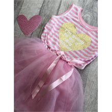 I'm going to be a Big sister striped tutu dress with detachable bow