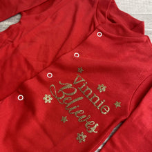 Personalised Believes Long Sleeved Christmas Baby/Sleepsuit