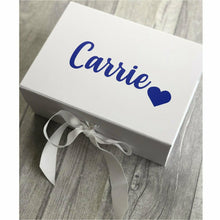 Personalised name with heart small Keepsake Gift Box
