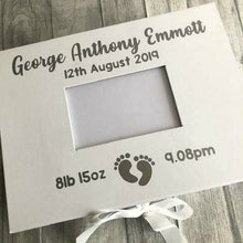 Baby personalised photo keepsake memory box