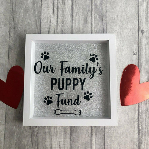 Personalised Family / Couple Puppy Dog Pet Saving Fund Money Box