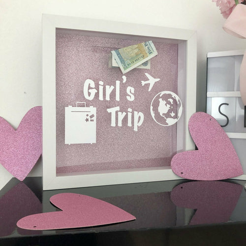 Personalised Girls/Boys Trip Fund Money box