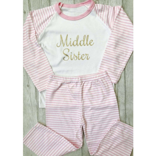 Middle Sister pink and white girls Pyjamas