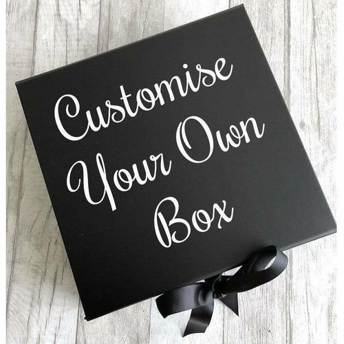Personalise Your Own Black Gift Keepsake Box
