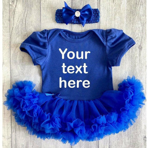 Custom your own blue tutu romper outfit(Different style & colour fonts)