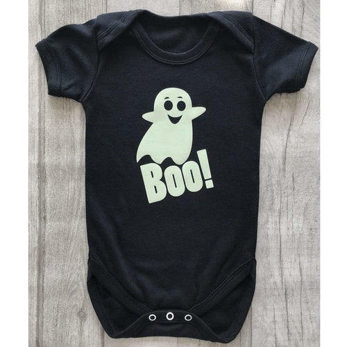 Glow in the dark Ghost Halloween black romper baby girl or boy fancy dress outfit. Cutest pumpkin in the Patch Halloween baby girl tutu romper suit with headband. Buy from little secrets clothing to make sure you're getting affordable, money savings outfits but of the highest quality alike high end designers such as YSL, jimmy Choo, Versace, Burberry, Valentino, Yves saint Laurent, Jimmy Choo