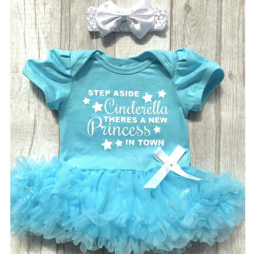 'Step Aside Cinderella There's A New Princess In Town' Disney Tutu Romper With Matching Bow Headband