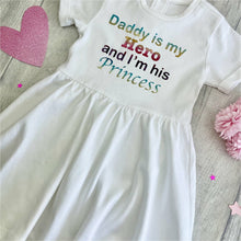 'Daddy Is My Hero And I'm His Princess' Baby Girl Tutu Romper With Matching Bow Headband