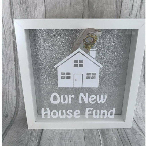 New Home Saving Money glitter box gift