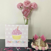 Little Secrets Happy Birthday Card with Cupcake Design, Birthday Girl