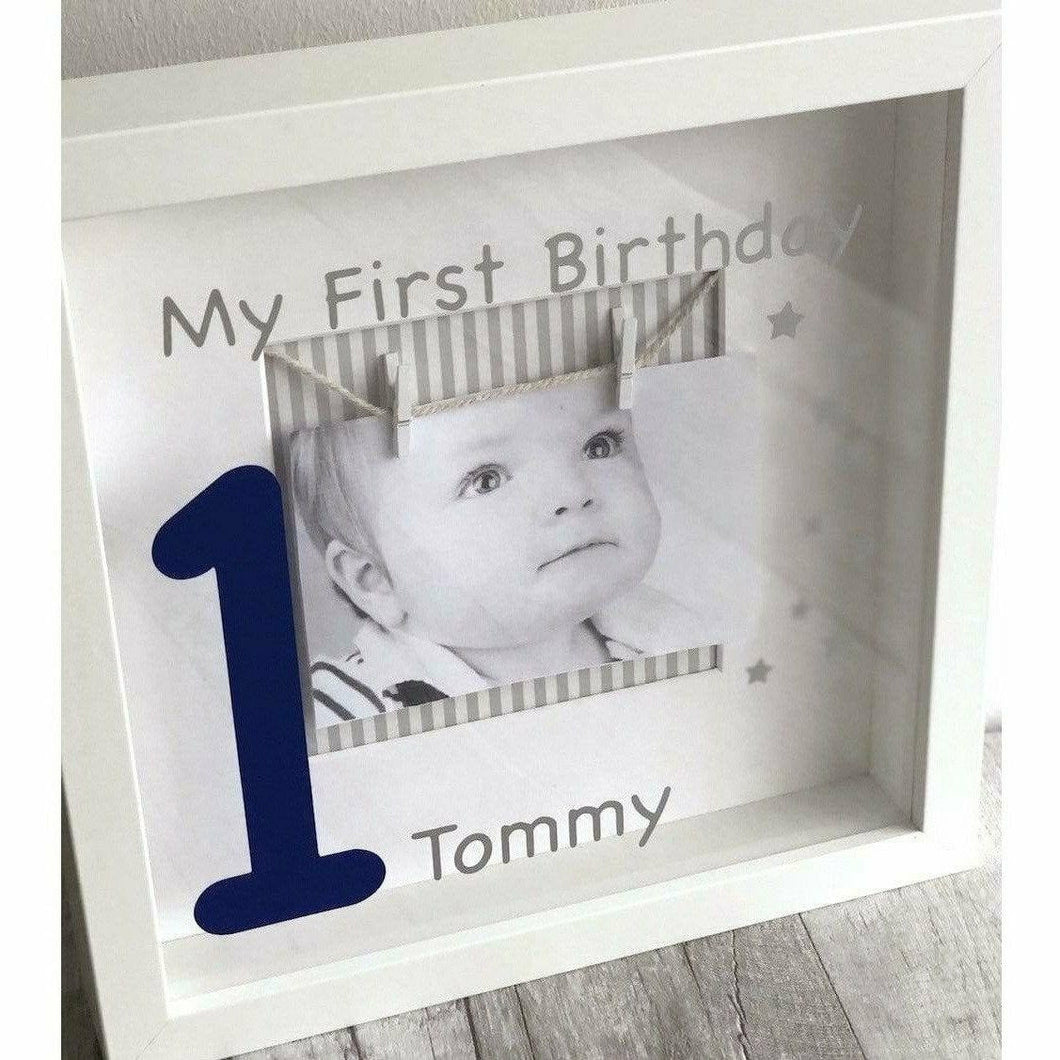 Personalised Baby 1st Birthday Photo Frame