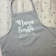 Personalised Best Baker Ever Baking Cooking Kitchen Adult Baking Cooking Apron, Mum, Nana, Mummy, Grandma, Grandad, Dad