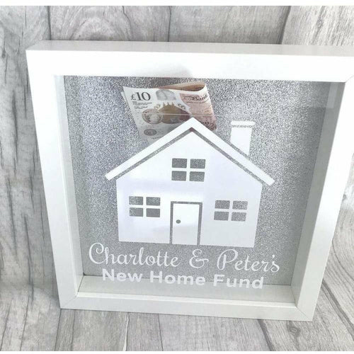 Personalised New Home Saving Money glitter box gift