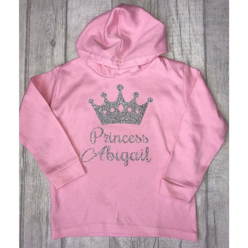 Personalised Princess Pink Girls Hoody
