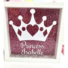 Personalised Princess Girls Box Frame