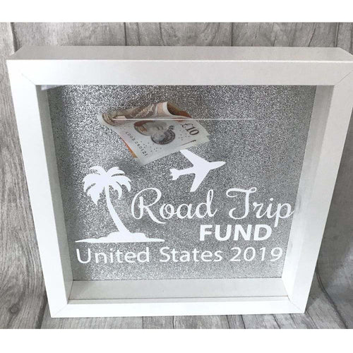Personalised Road Trip Holiday Fund Money box