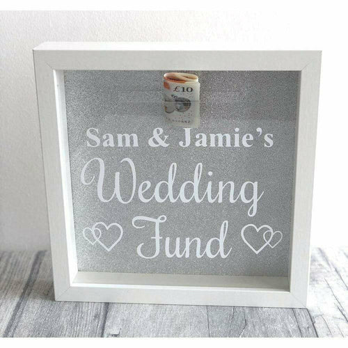 Personalised 'Wedding Fund' Engagement Money Box Gift