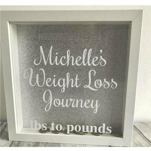 Weight Loss Diet Money box Silver Saving Fund