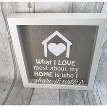 Glitter Home Quote Box Frame