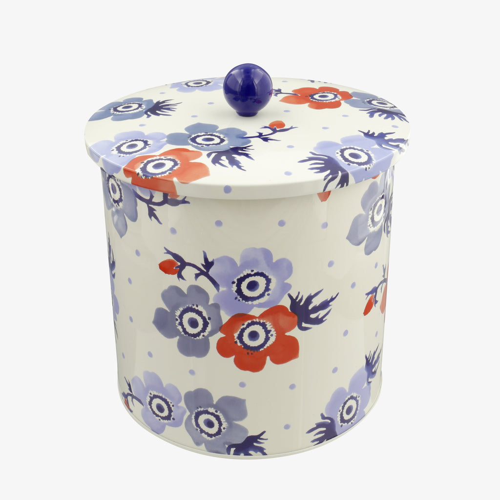 Anemone Tin Biscuit Barrel