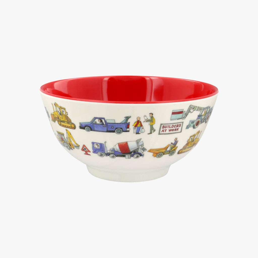 Builders at Work Melamine Bowl