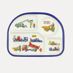 Builders at Work Melamine Childrens Eat Tray