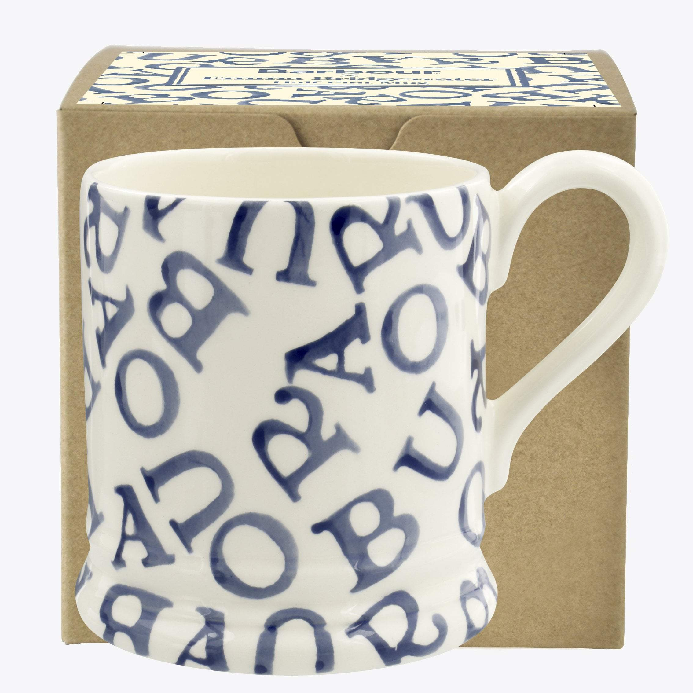 Barbour All-Over Stormy Blue 1/2 Pint Mug Boxed