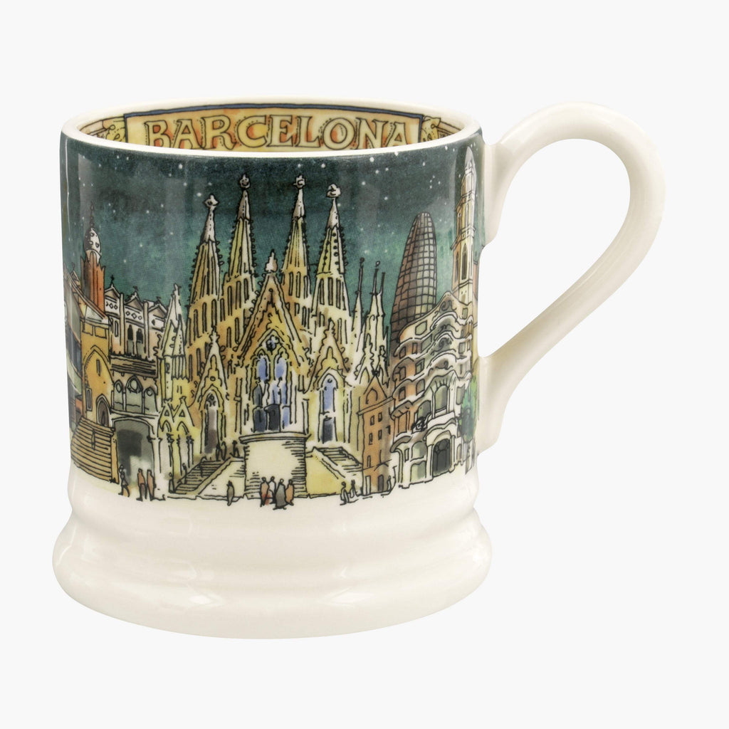 Seconds Cities Of Dreams Barcelona 1/2 Pint Mug