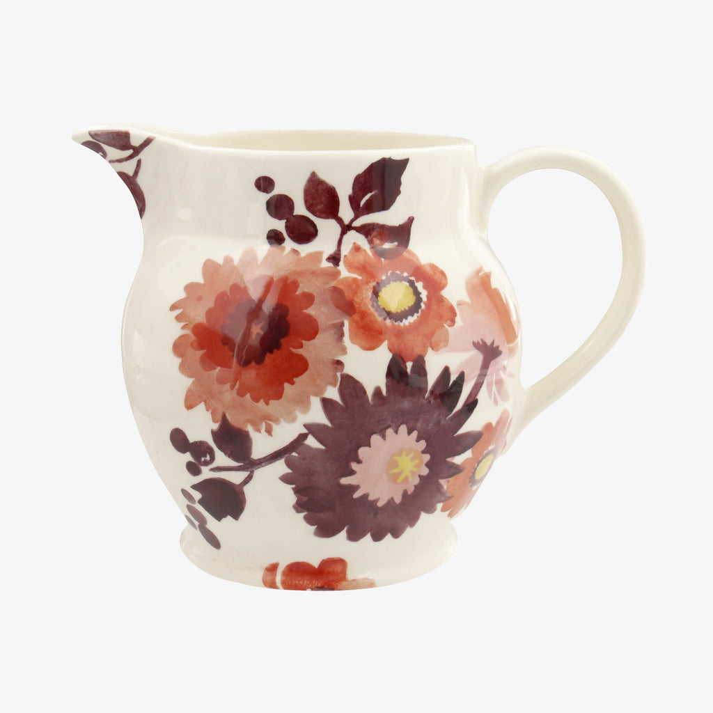 Seconds Bright Dahlias 1 1/2 Pint Jug