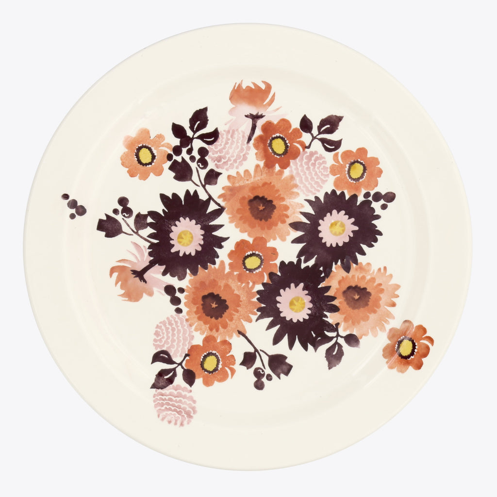 Seconds Bright Dahlias Serving Plate