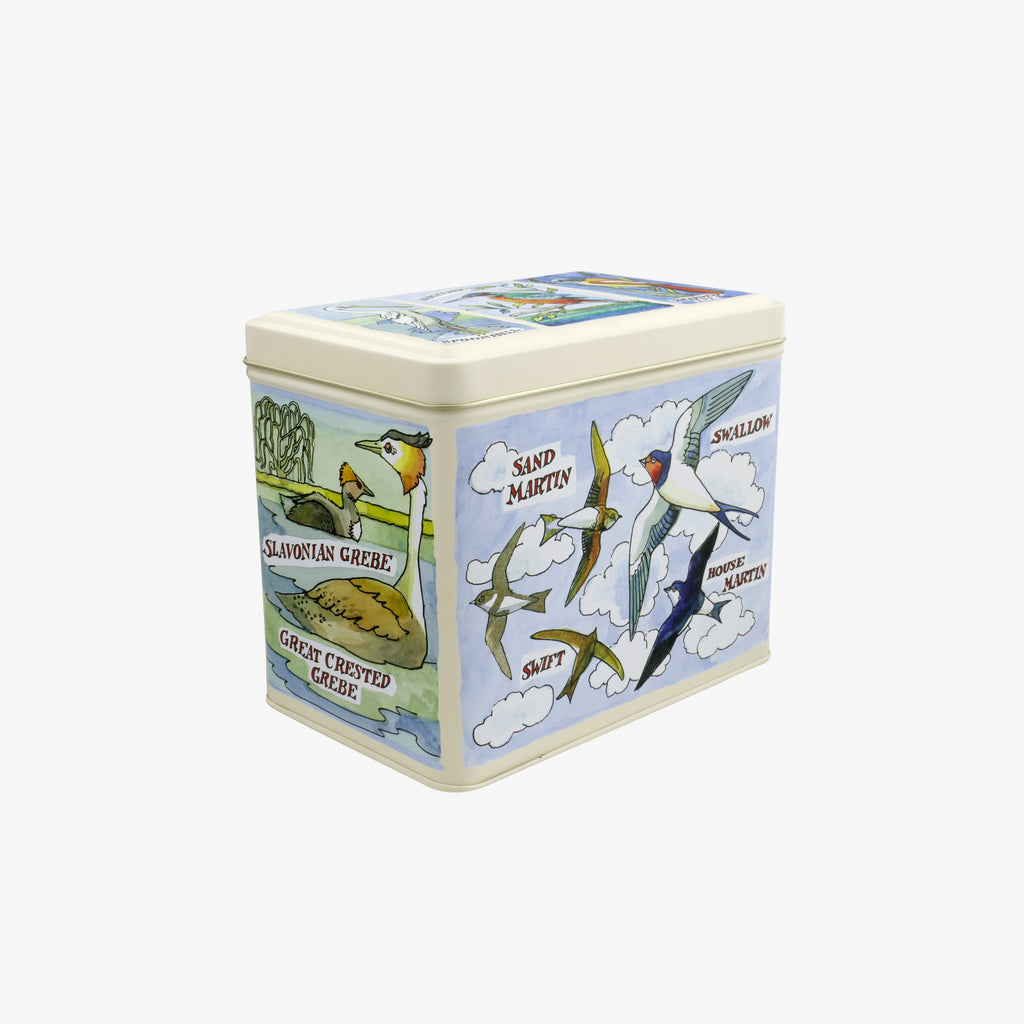 Bird Families Large Rectangular Tin Caddy