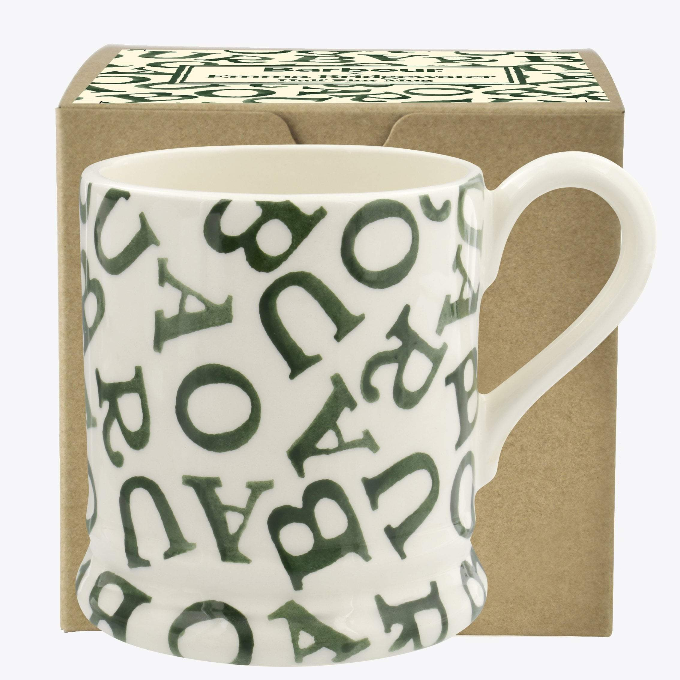 Image of Barbour All-Over Hawthorn Green 1/2 Pint Mug Boxed