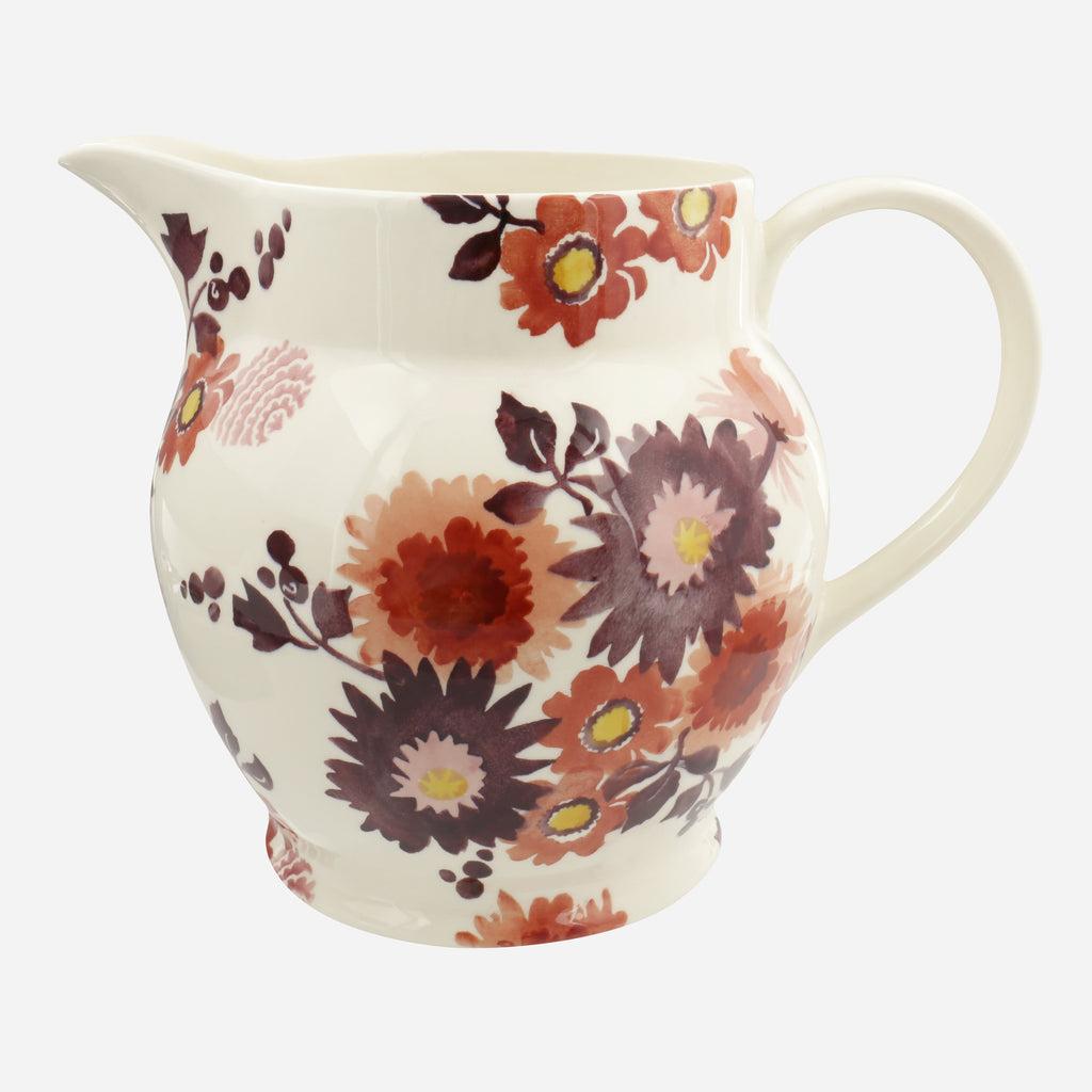 Seconds Bright Dahlias 6 Pint Jug