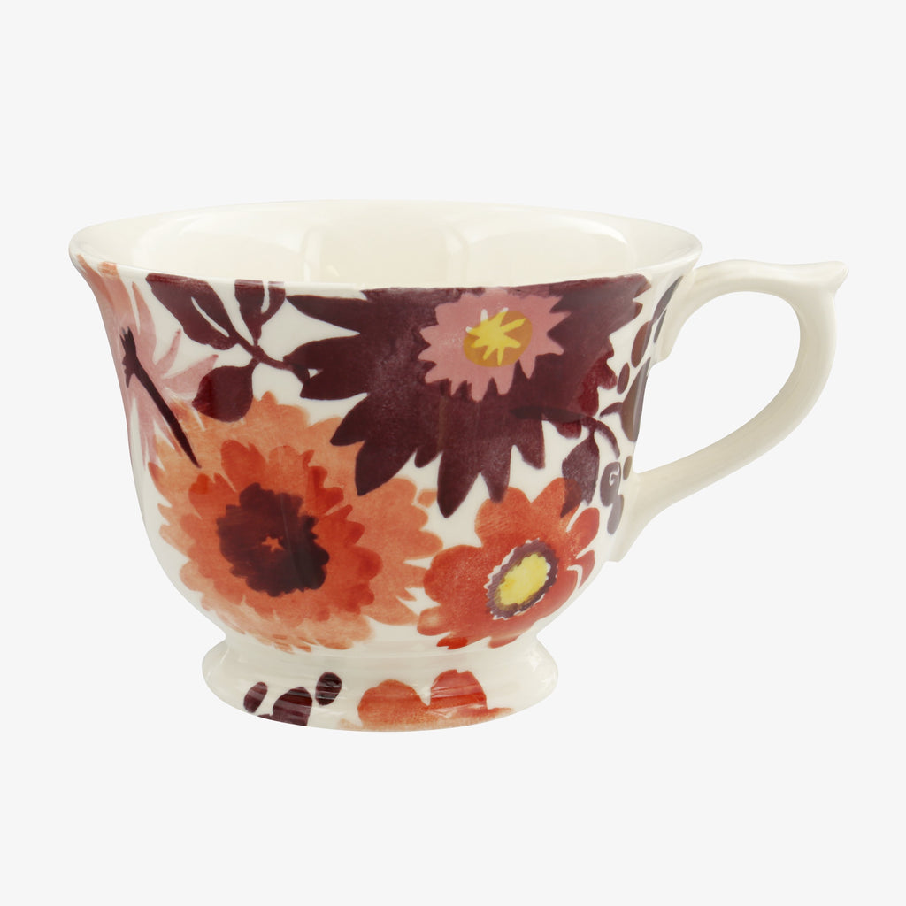 Bright Dahlias Large Teacup