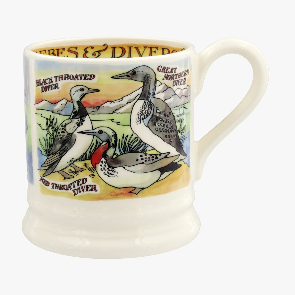 Seconds Divers and Grebes 1/2pt mug