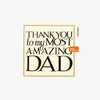 Black Toast Thank You Dad Card