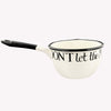 Black Toast Medium Enamel Saucepan