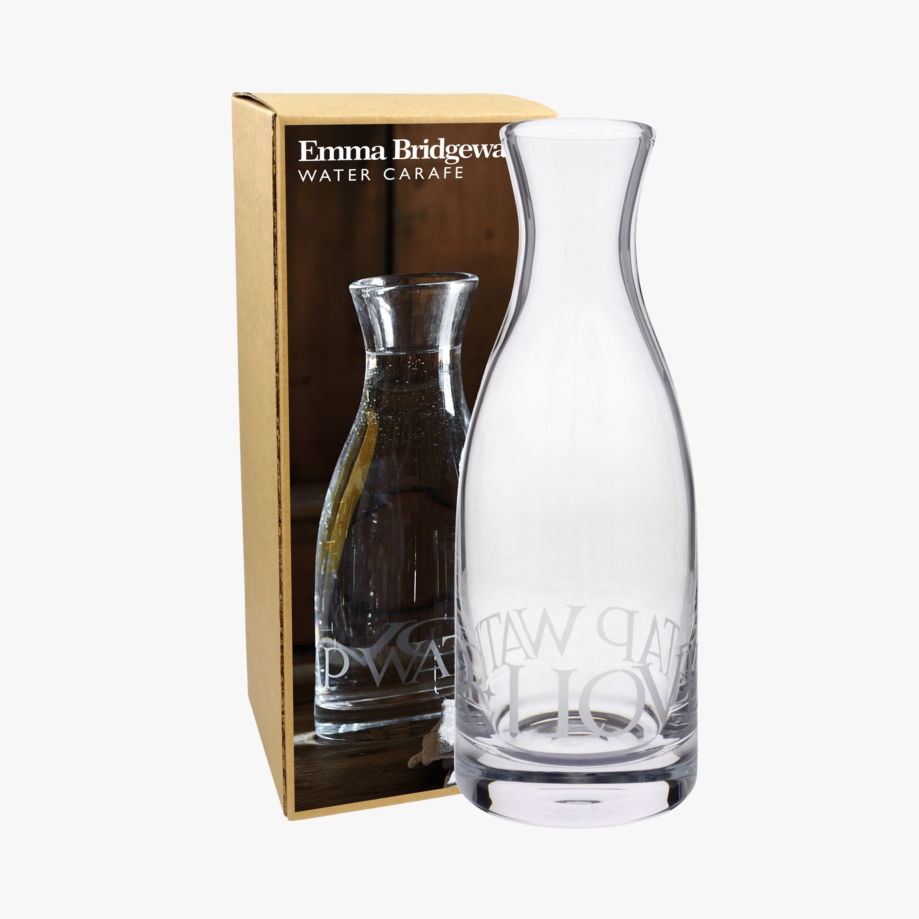 Image of Black Toast Glass Carafe Boxed