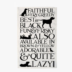 Black Toast Labrador Tea Towel