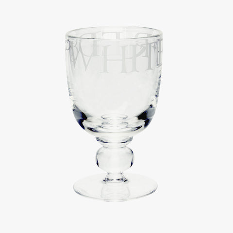 Black Toast Glass Large Wine Glass