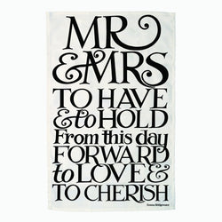 Black Toast Mr & Mrs Tea Towel
